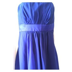 Royal blue Party dress, size 18 Strapless